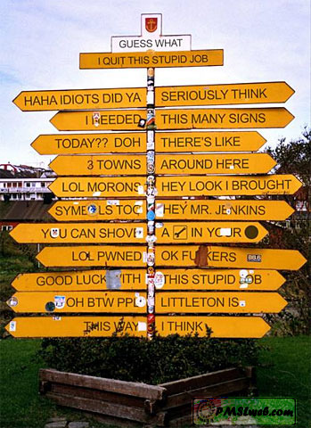 Lots of directions, I don't know about you but I'd still be lost