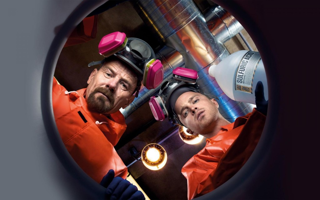 Walt and Jesse making meth