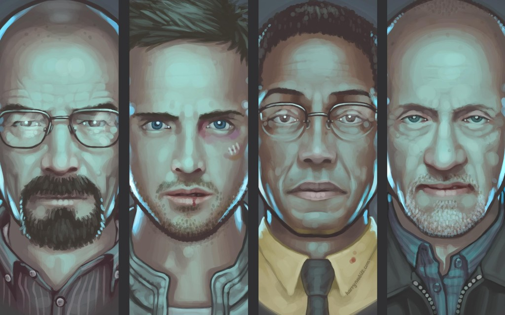 Awesome art of Walt, Jesse, Gus and Mike