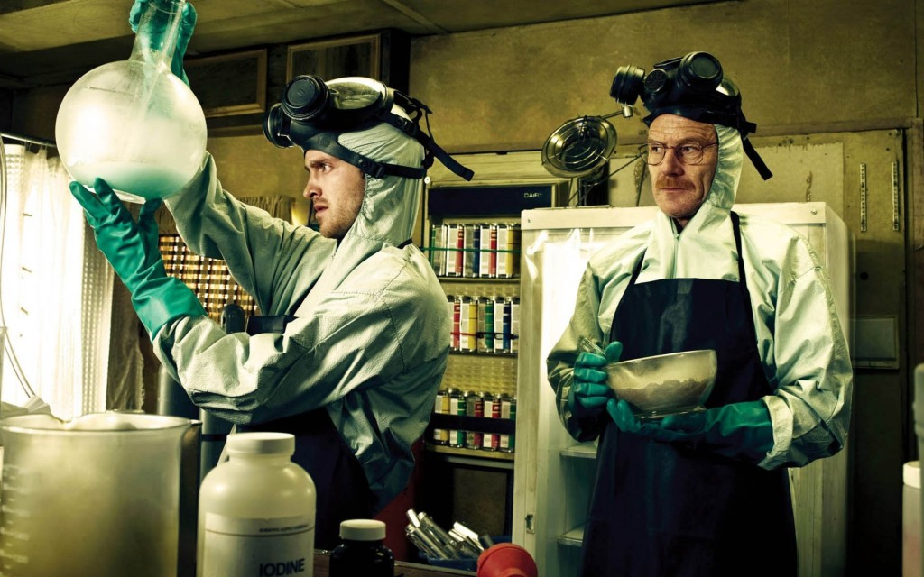 Jesse and Walt cooking