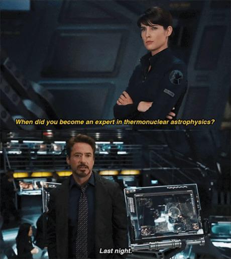 Tony Stark, one smooth guy