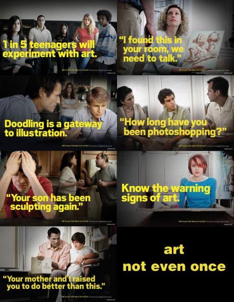 Kids, art not even once