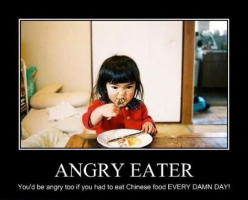 It's ok eating Chinese food once a month
