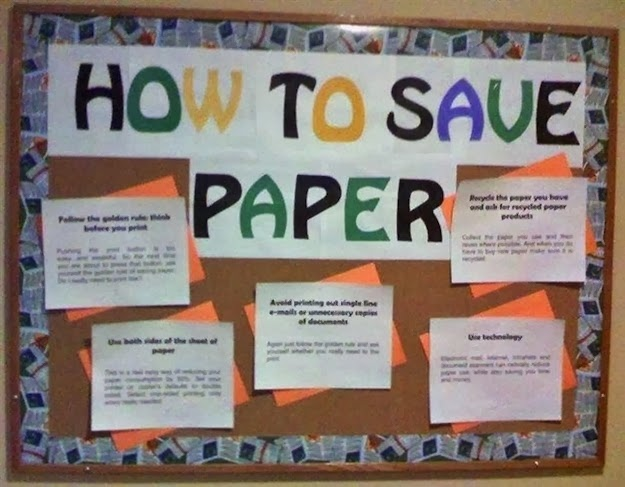 "Perhaps that should read ""How NOT To Save Paper"""