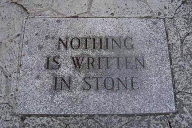 Nothing is written in stone, but is this the exception to the rule?