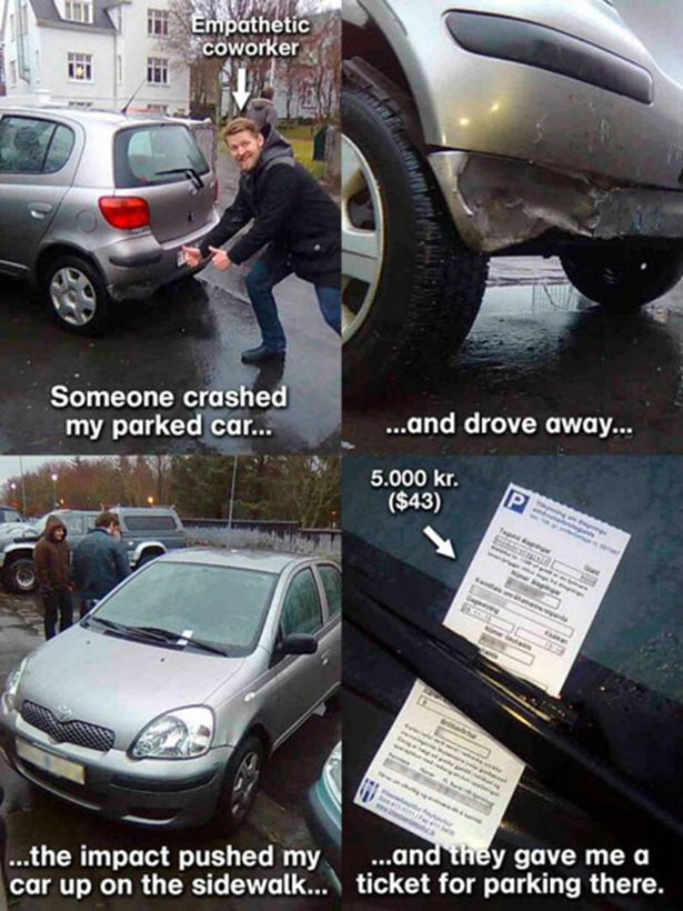 Parking wardens care often over zealous