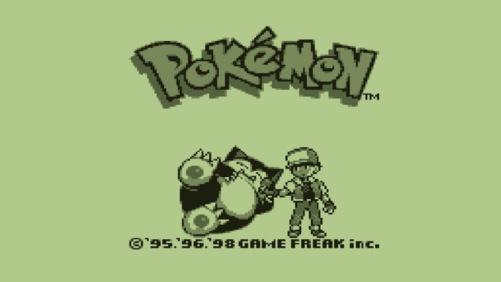 Pokemon: Original Gameboy Pokemon Title Screen