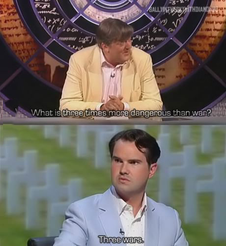 Stephen Fry and Jimmy Carr at their best