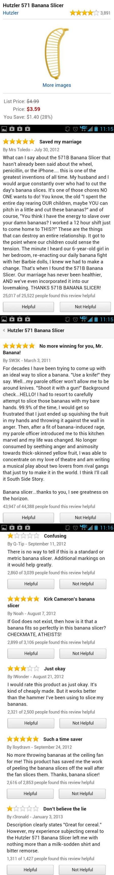 Who knew a banana slicer could be so complicated