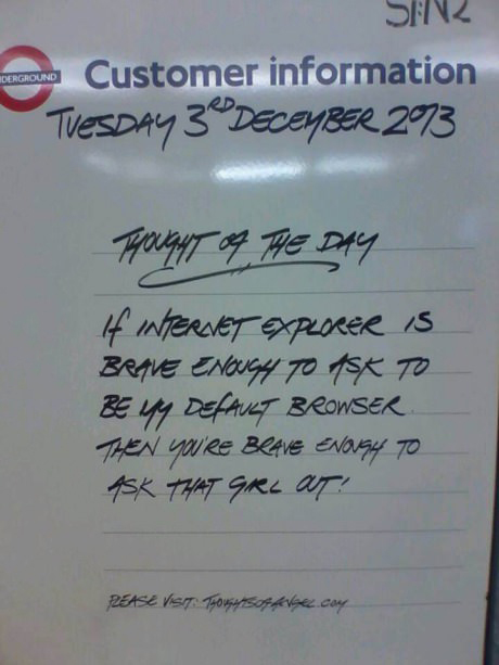 Thought of the day on the tube