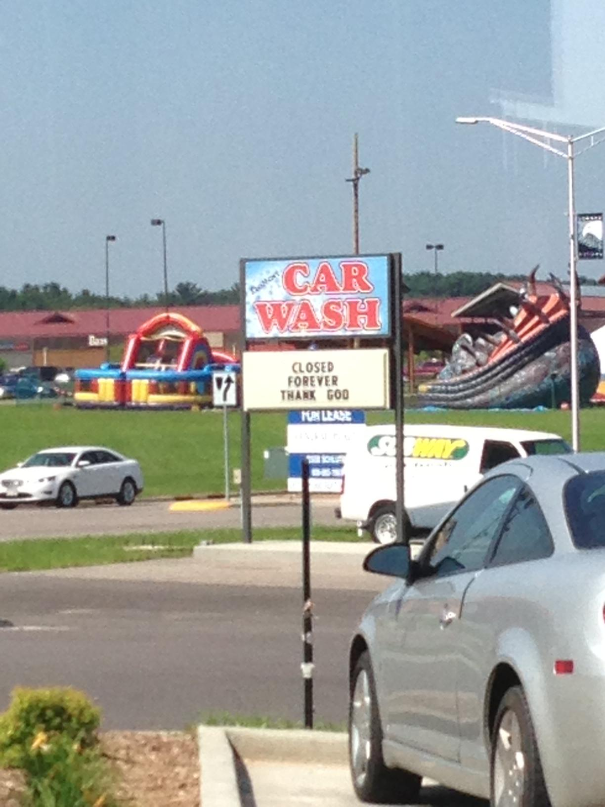 Funny car wash signs images galleries for Clean car pictures