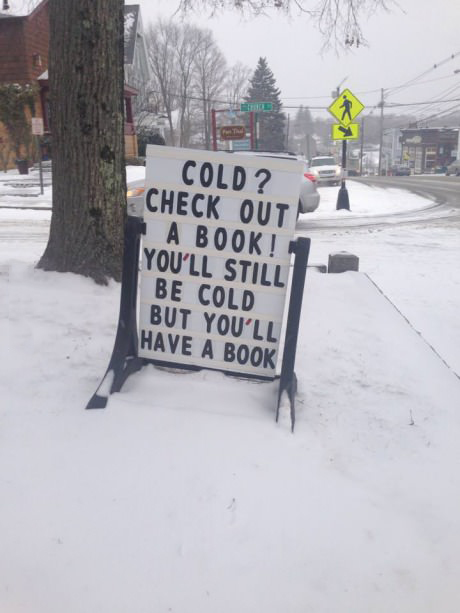 I suppose you could always burn the book to stay warm