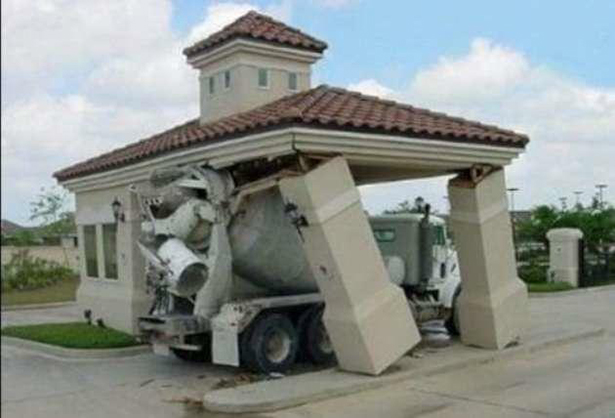 Seriously?  How did you now know how tall your cement truck is