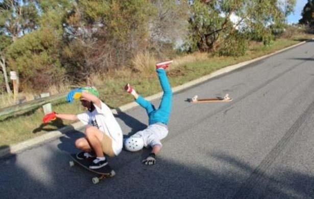 Skateboard = fail