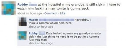 Commas are important guys