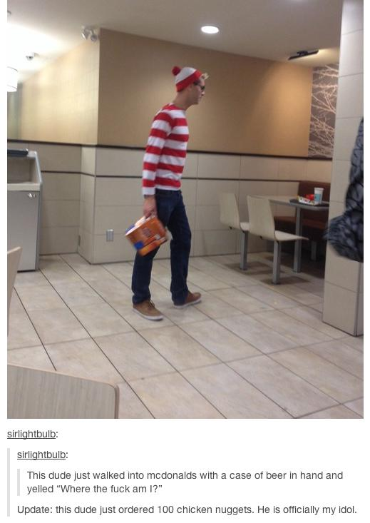 He found Waldo!  Great for him