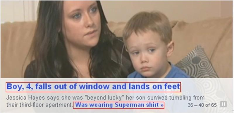 Lucky little lad