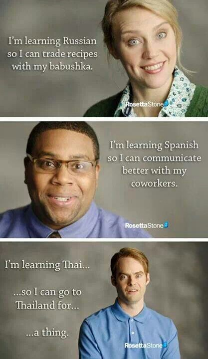 Rosetta Stone has it's uses obviously