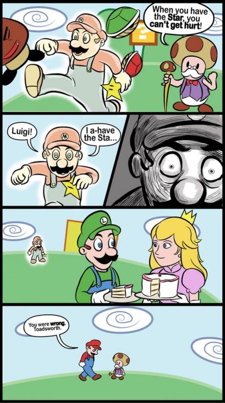 Super Mario stars don't make you invincible.
