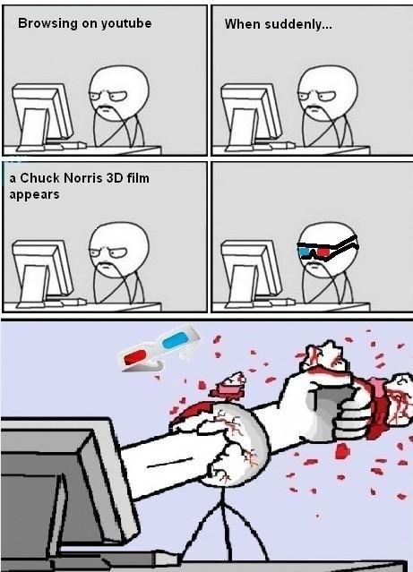 Chuck Norris in glorious 3D