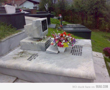 Computer on my grave?  Yes please