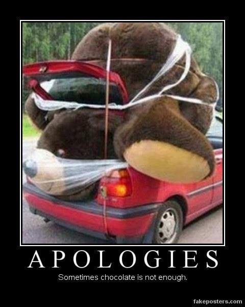 Sometimes bigger is better when it comes to apologies