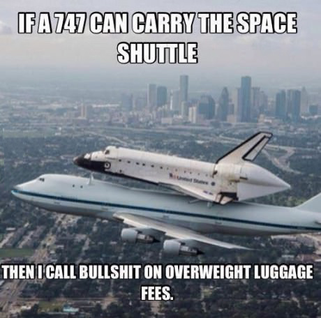 Luggage allowance are a pain