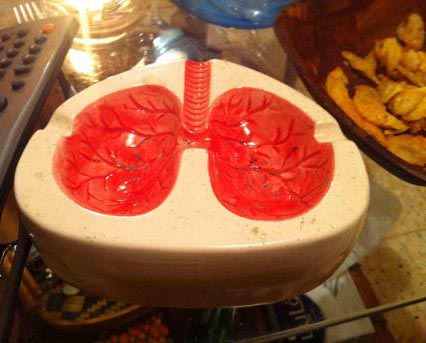 Buy a lung ashtray for the smoker in your life